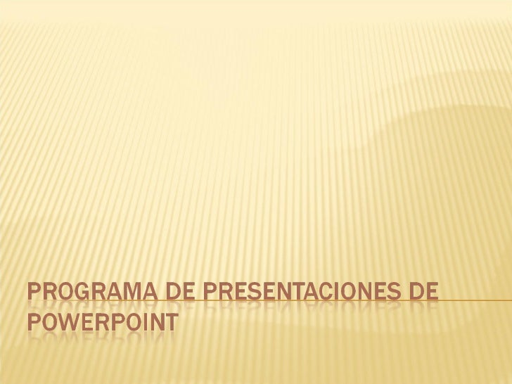 Programa de presentaciones de power point
