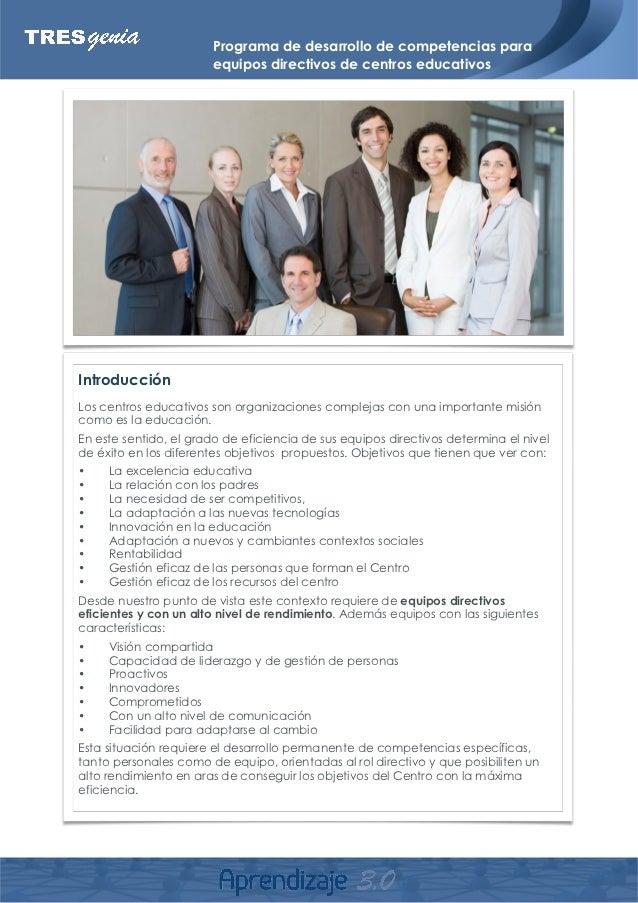 Programa Desarrollo Competencias Centros Educativos