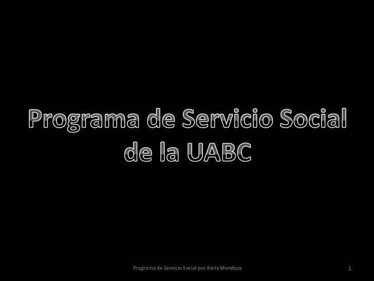 Programa de Servicio Social por Karla Mendoza   1