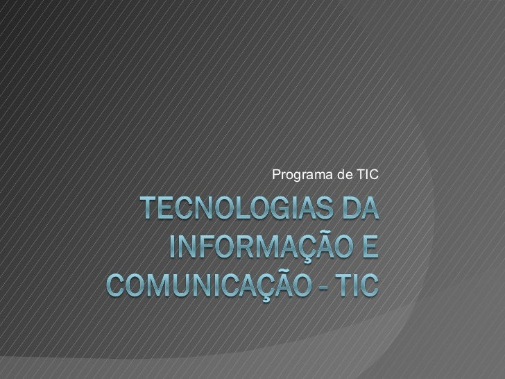 Programa de TIC