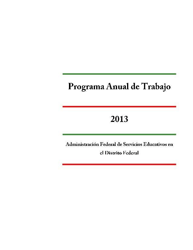 PROGRAMA ANUAL DE TRABAJO DE LA AFSEDF Página2Página2