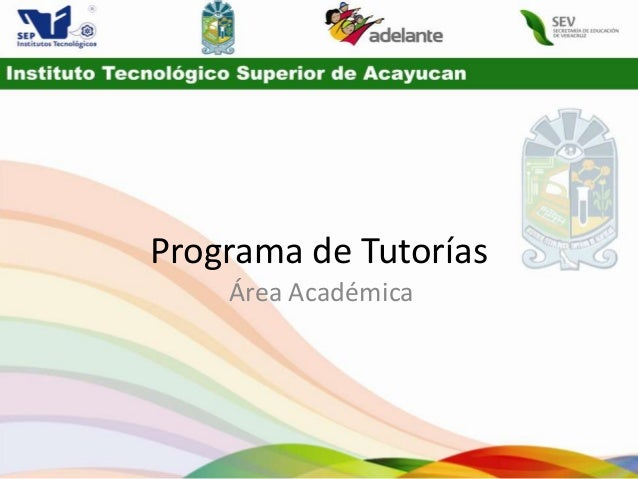 Programa de Tutorías    Área Académica