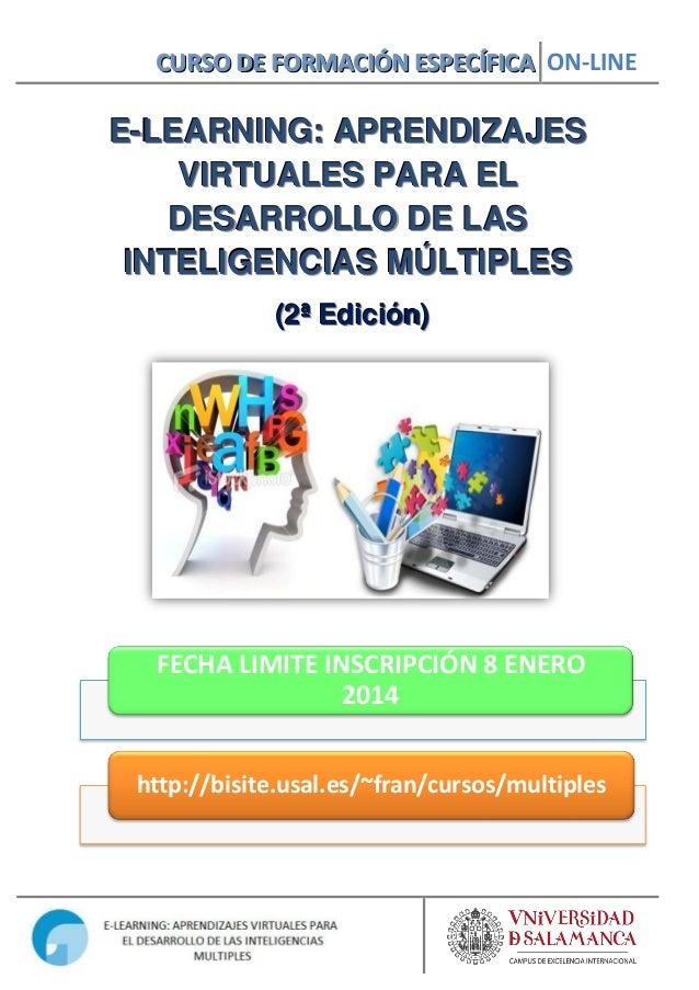 PROGRAMA Curso online E-learning: Aprendizajes Virtuales para el desarrollo de las inteligencias Múltiples (2ª Edición)
