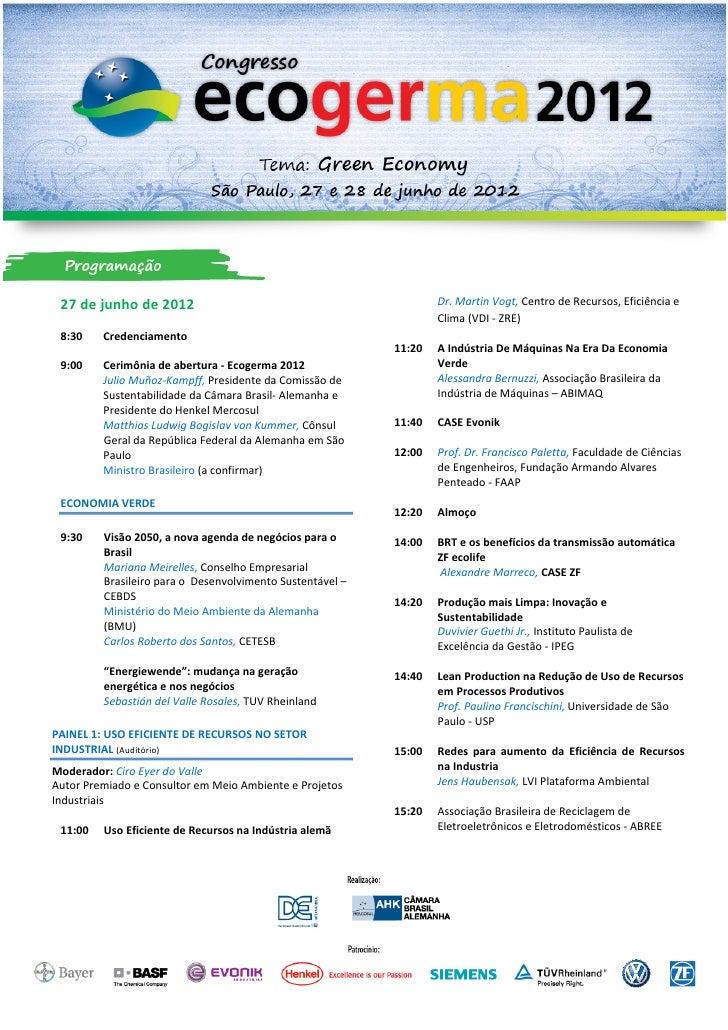 Programa ecogerma 2012