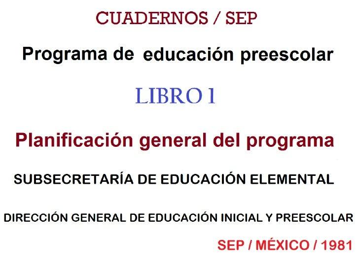 Programa educacion preescolar 1981