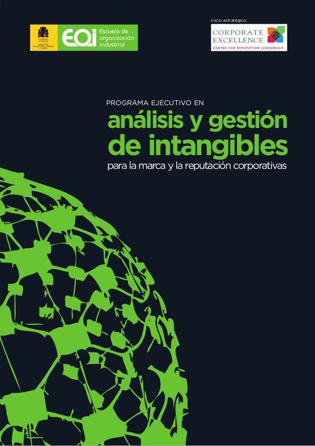 socio estratégico:PROGRAMA EJECUTIVO ENanálisis y gestiónde intangiblespara la marca y la reputación corporativas