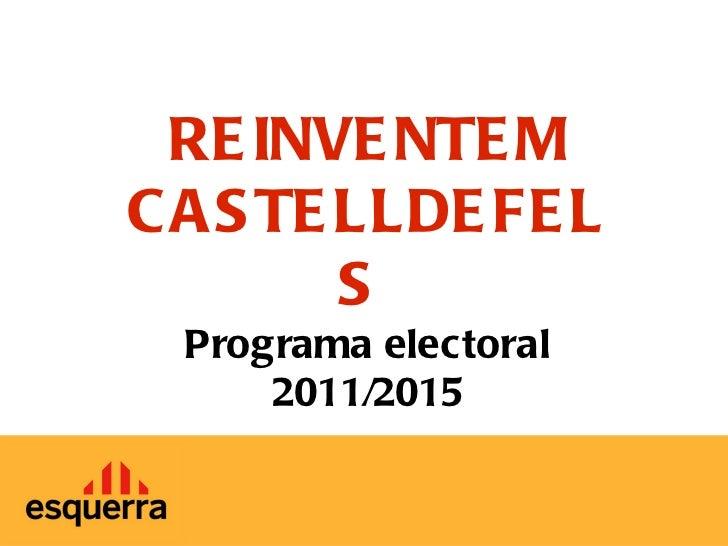 Programa electoral 2011/2015