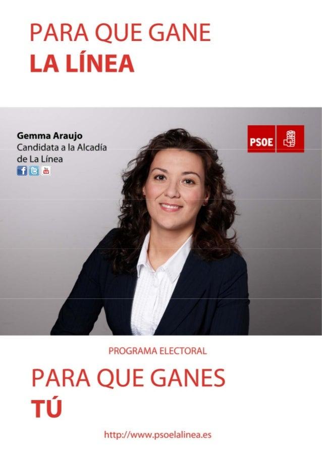 Programa electoral 2011 Psoe La Linea