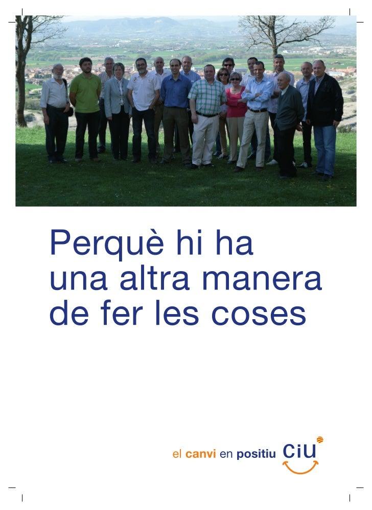 Programa electoral ciu   municipals 2011