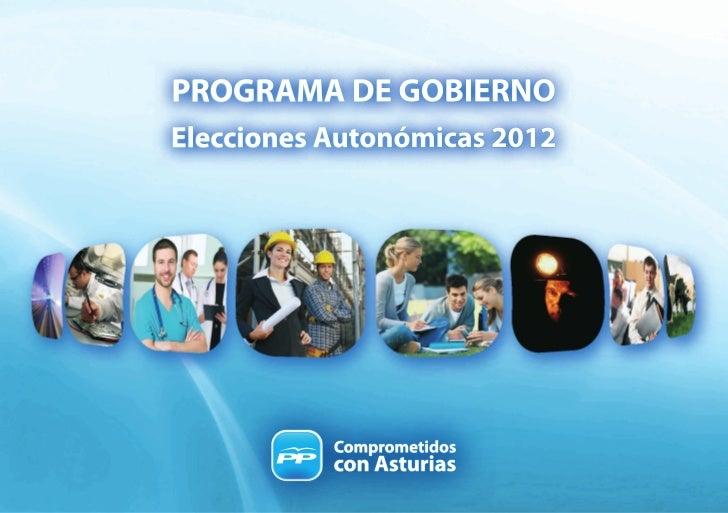 Programa electoral PP asturias
