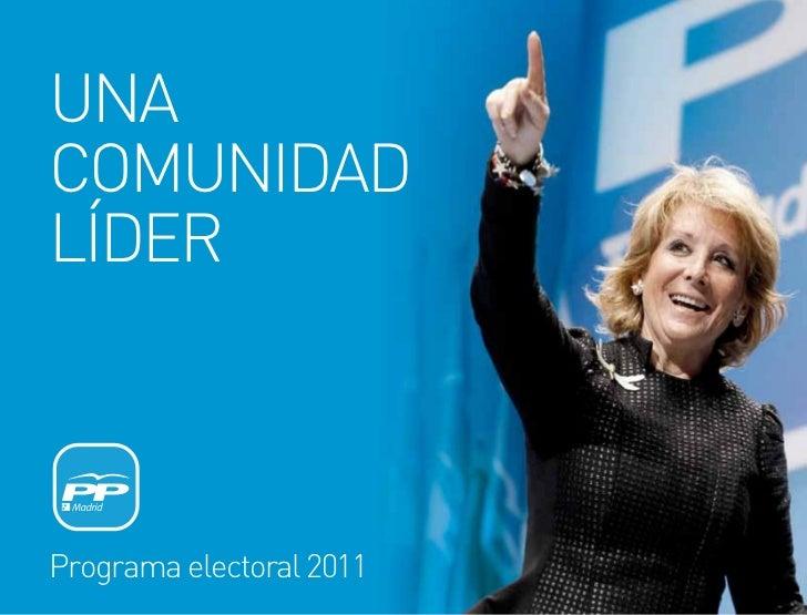 Programa Electoral PP Comunidad Madrid