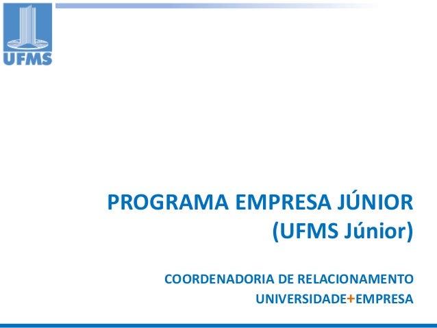 Programa empresa junior UFMS