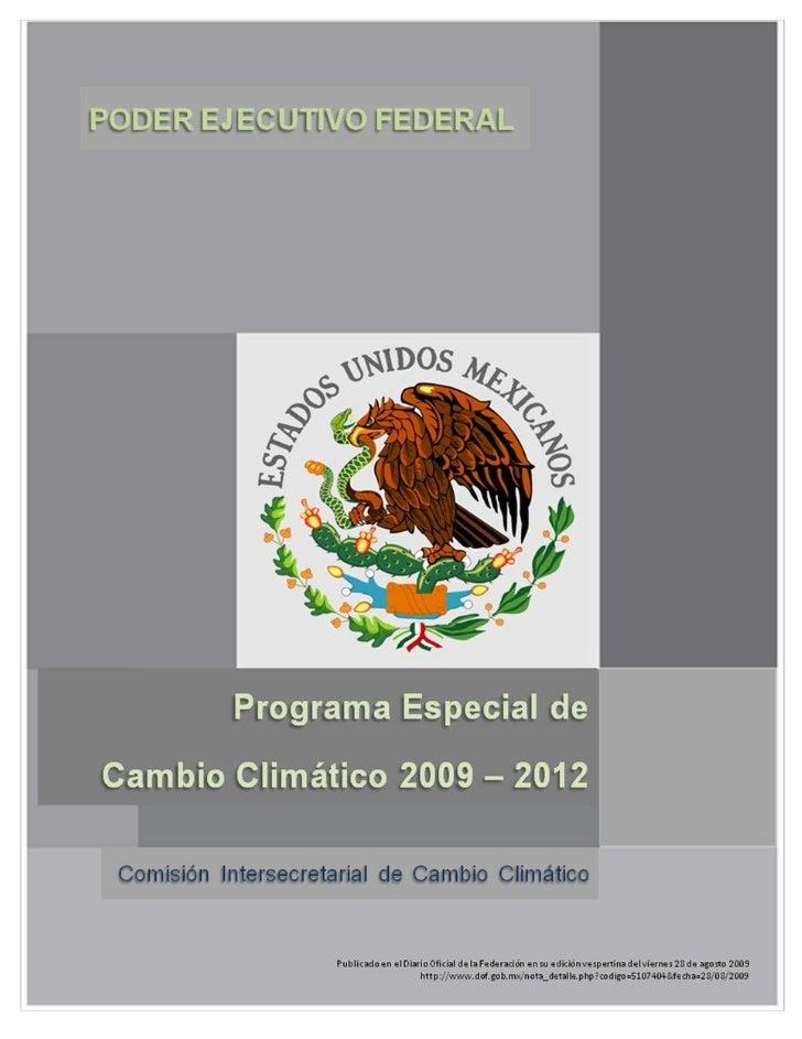Programa Especial de Cambio Climático 2009-2012