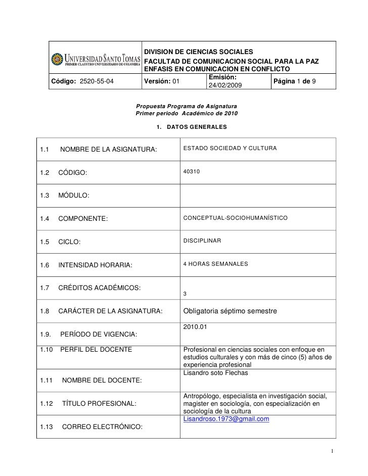 DIVISION DE CIENCIAS SOCIALES                                  FACULTAD DE COMUNICACION SOCIAL PARA LA PAZ                ...