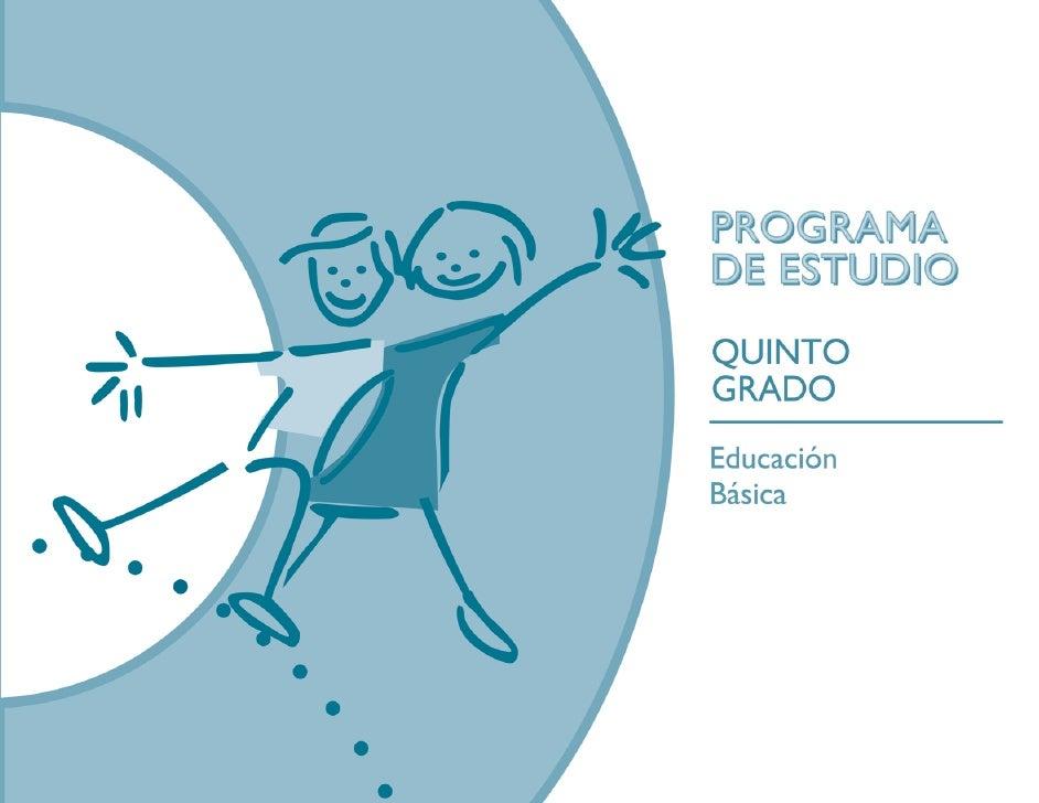 Programa Estudio Quinto 0 Grado