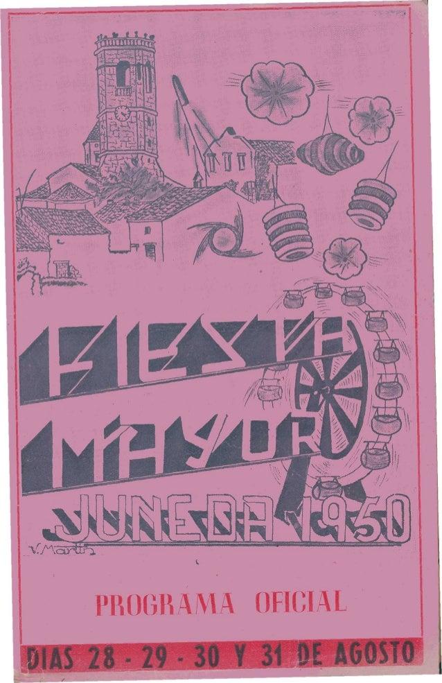 Programa festa major juneda 1950
