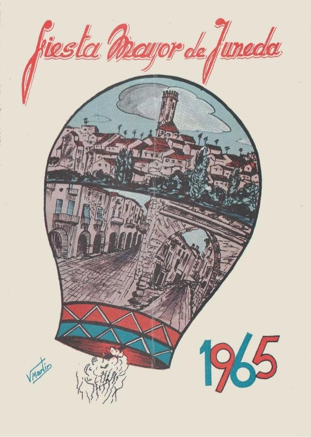Programa festa major Juneda 1965