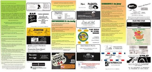 Festa major Pla del Bonaire 2013