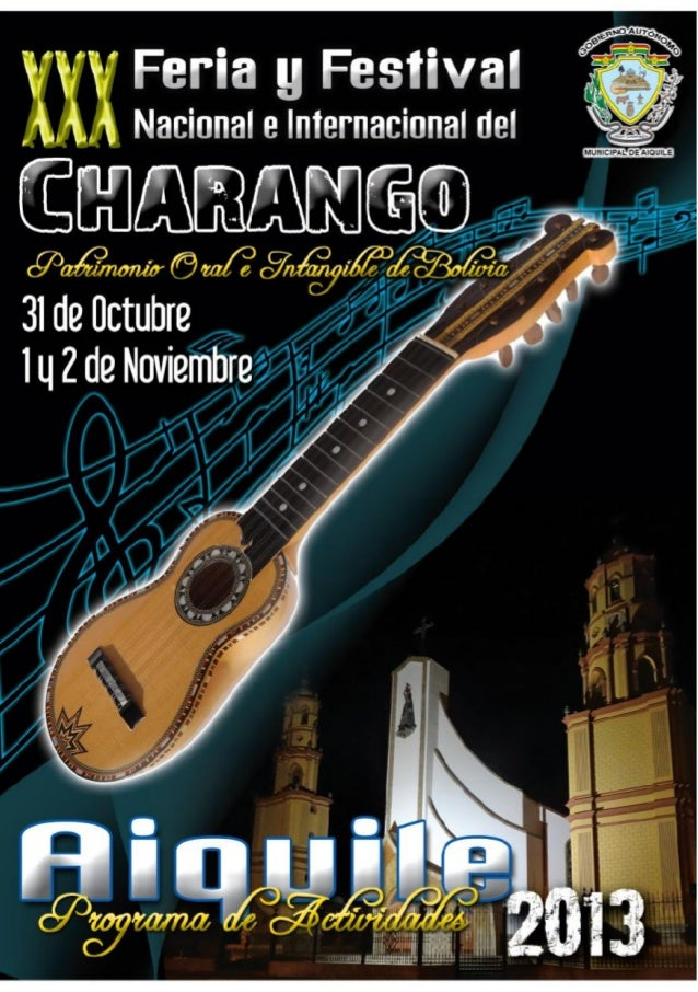 Programa General Feria y Festival del Charango Aiquile 2013