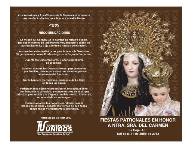 Programa fiestas patronales 2013