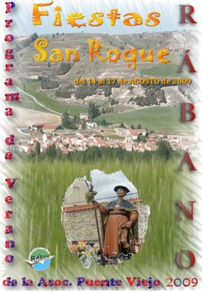 Programa Fiestas San Roque 2009