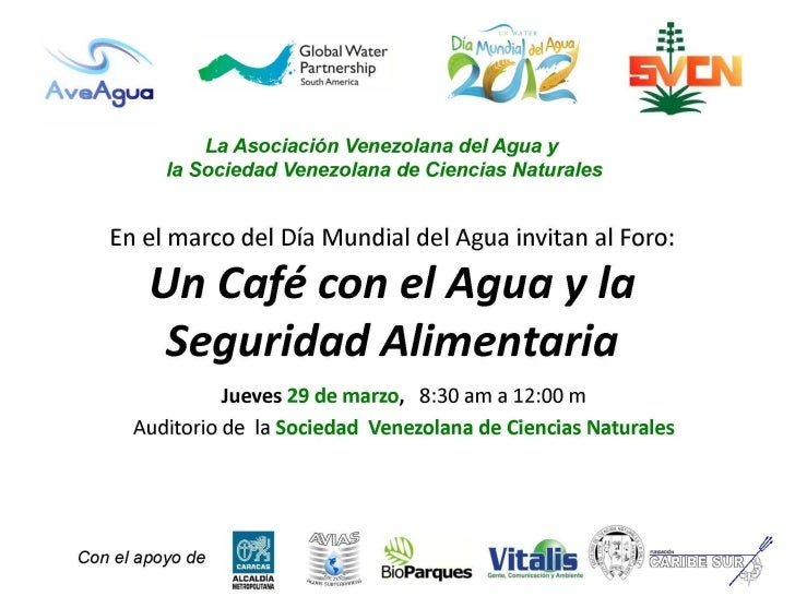 Foro Agua y Seguridad Alimentaria (2012): J.C. Fernández