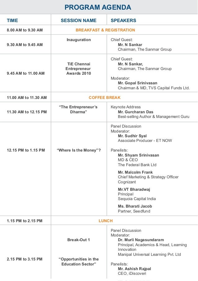 Program agenda 19