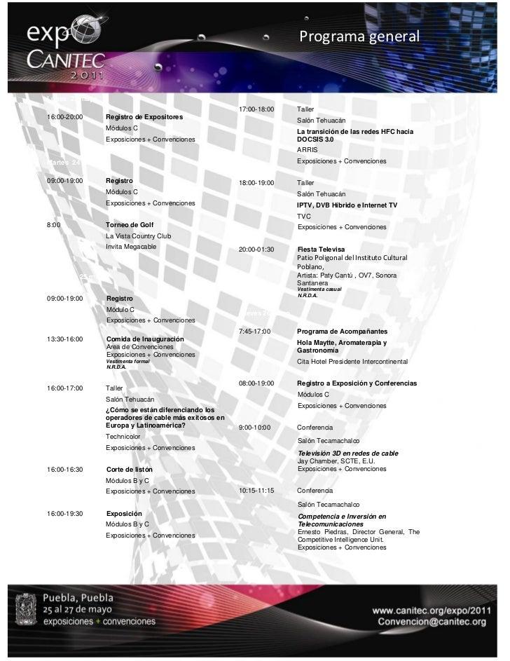 ProgramageneralLunes 23 mayo                                                       17:00-18:00      Taller16:00-20:00   ...