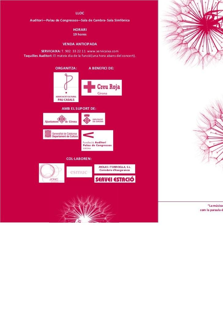 Concerts de la Creu Roja Girona a l'auditori de Girona