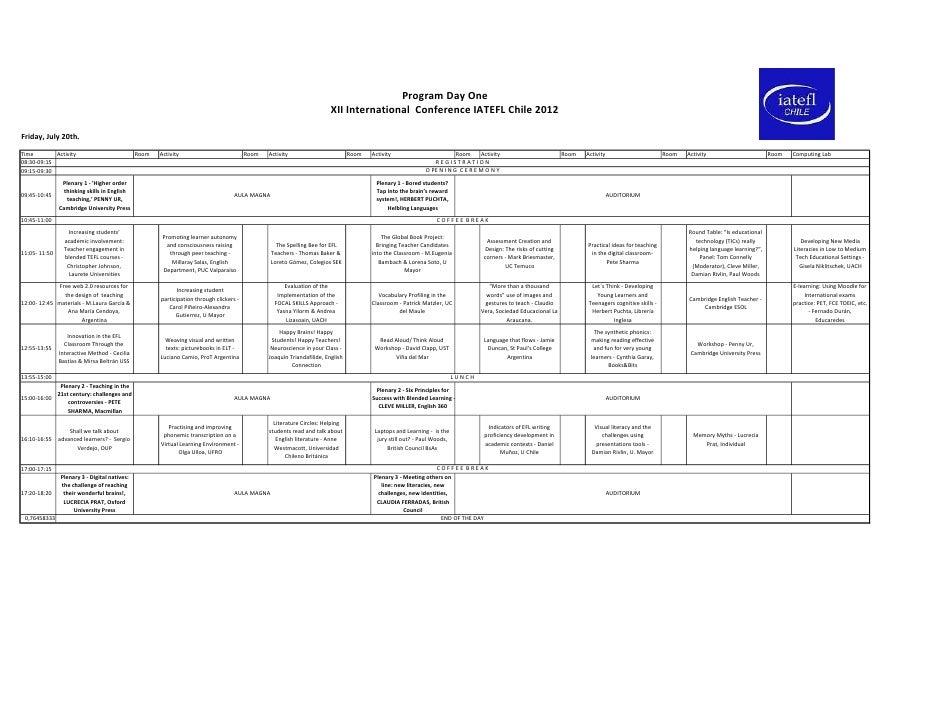 Programa iatefl conference-2012full