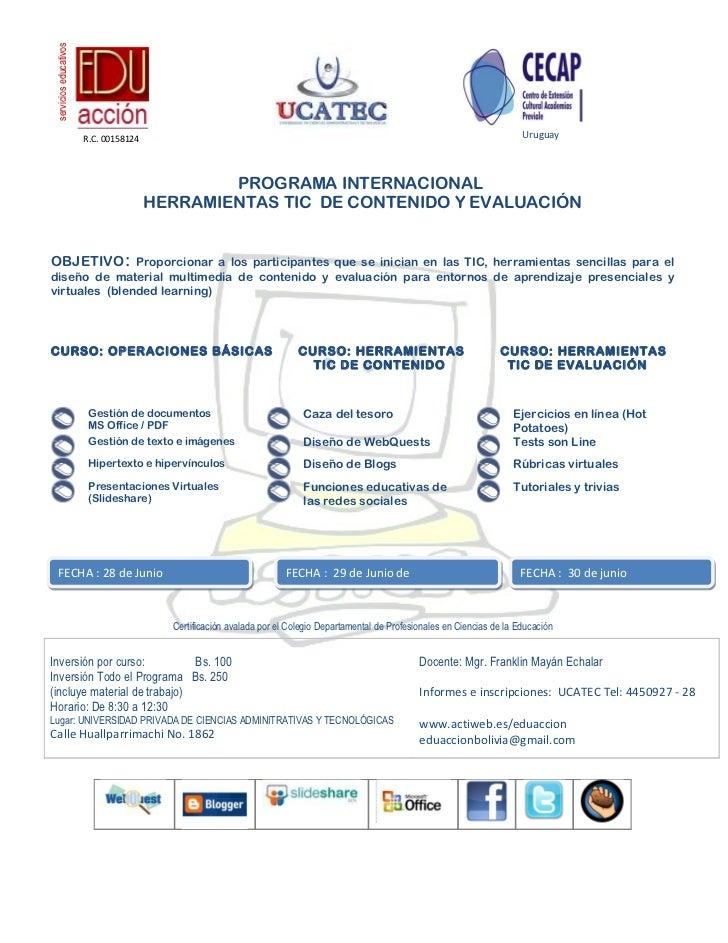 servicios educativos                        R.C. 00158124                                                                 ...
