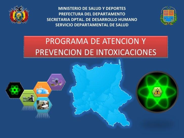 Programa Intoxicaciones SEDES Cbba
