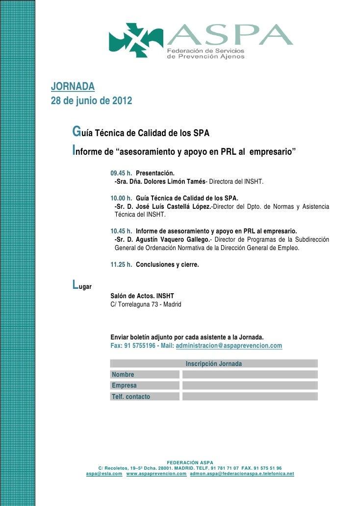 Programa jornada asesoramiento 20120628