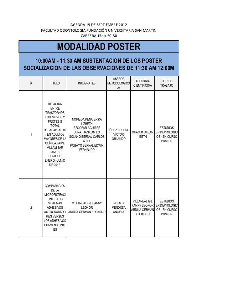 Programa jornada de investigación 19 de septiembre