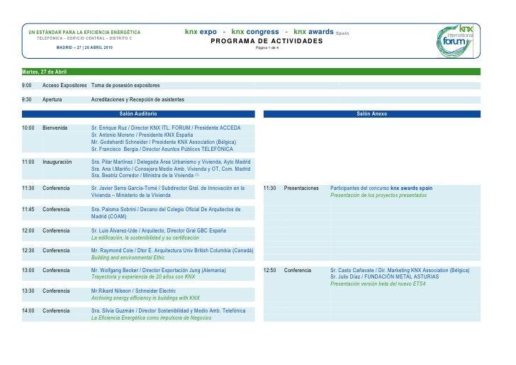 UN ESTÁNDAR PARA LA EFICIENCIA ENERGÉTICA                                knx expo - knx congress - knx awards Spain       ...