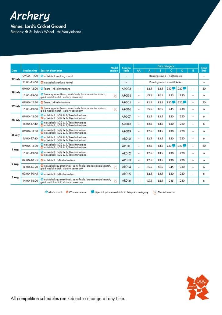 Programa Juegos Olimpicos 2012