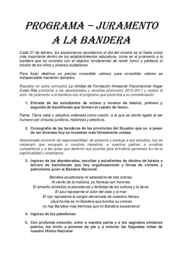 Frases Alusivas Al Juramento Ala Bandera