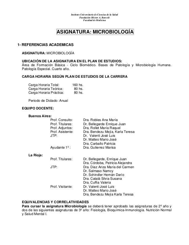 Instituto Universitario de Ciencias de la Salud Fundación Héctor A. Barceló Facultad de Medicina ASIGNATURA: MICROBIOLOGÍA...