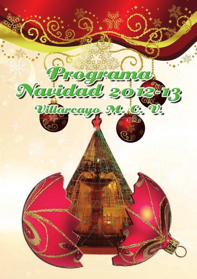 Programa Navideño de Villarcayo 2012. Merindades