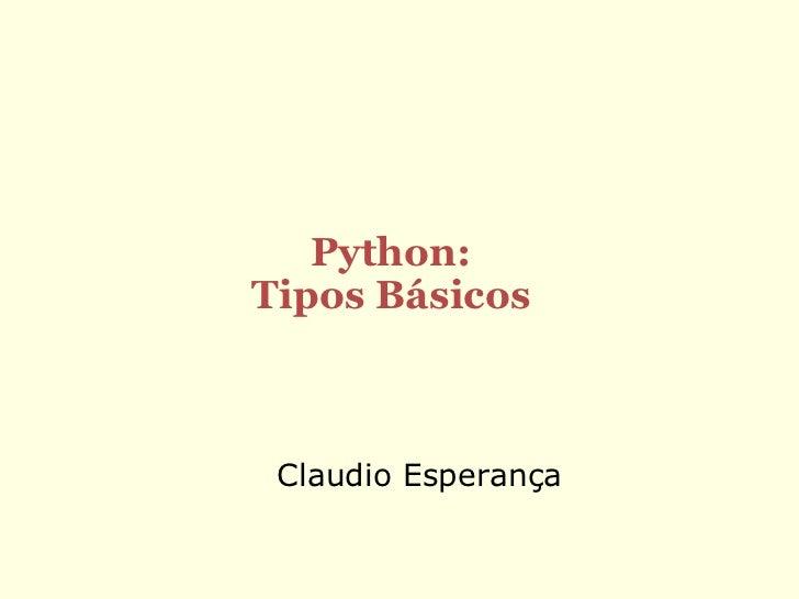 Programando em python   tipos basicos