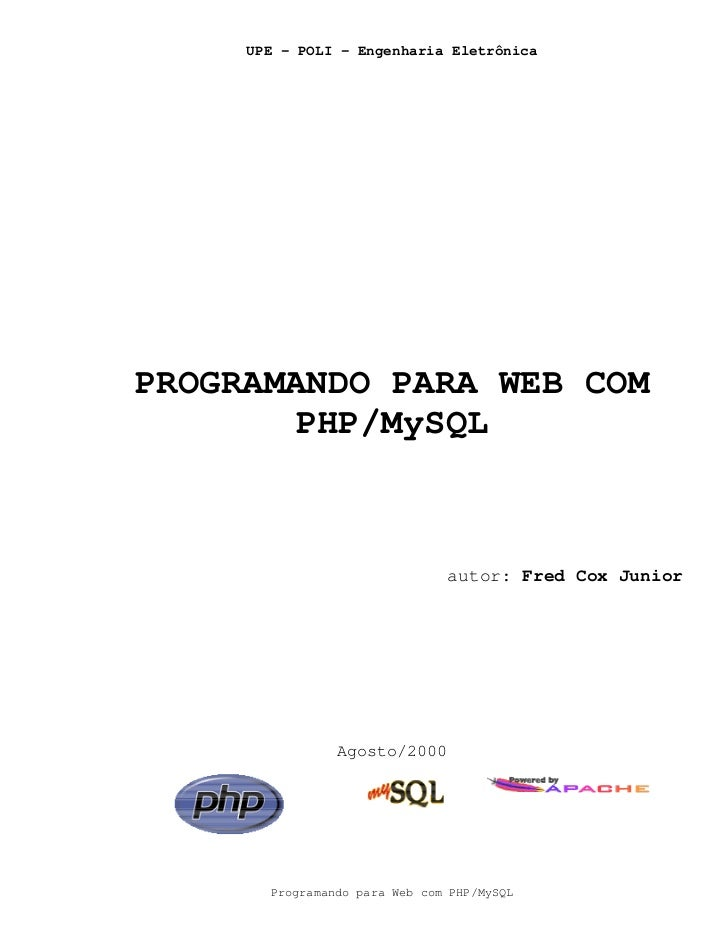 Programando para web com php my sql - fed cox junior