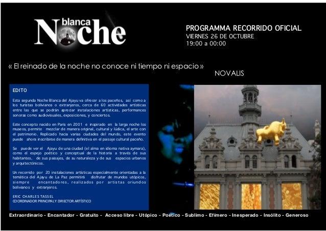 Programa Noche Blanca 2012