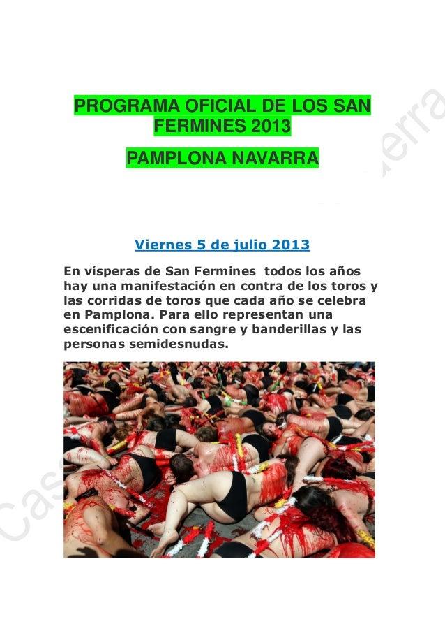 24  Programa oficial de los san fermines 2013