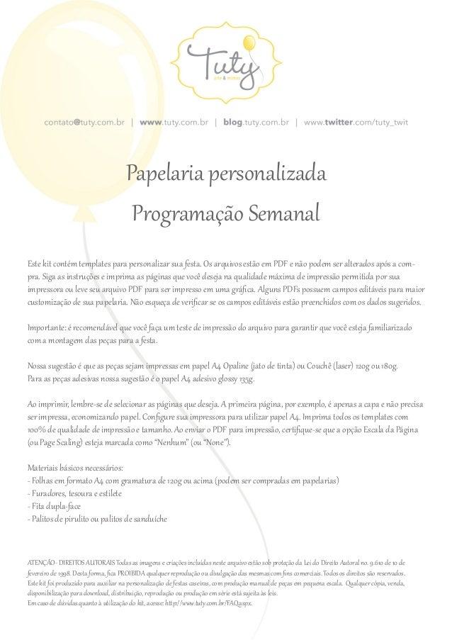 © Tuty - Direitos Reservados. Este PDF é livre para uso pessoal. Distribuição e comercialização proibidas. ATENÇÃO- DIREIT...