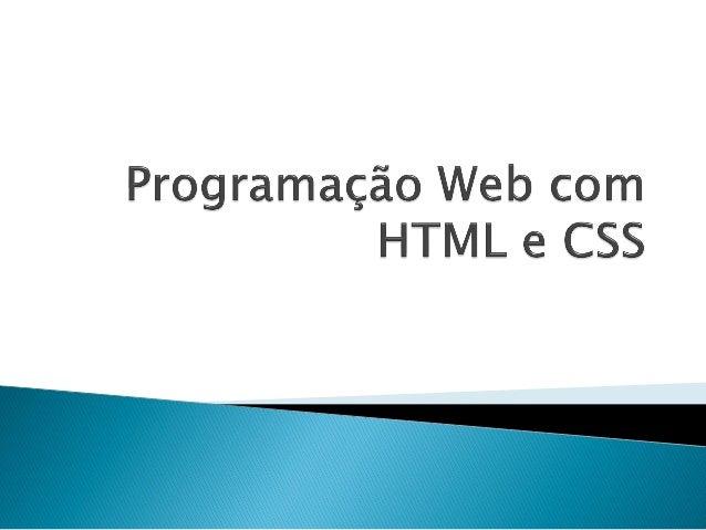 Programação Web com HTML e CSS