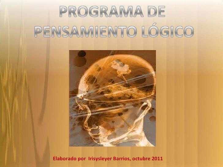 Programa Pensamiento Lógico