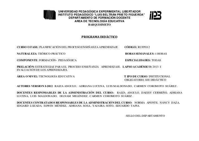 Programa planif 1 2013