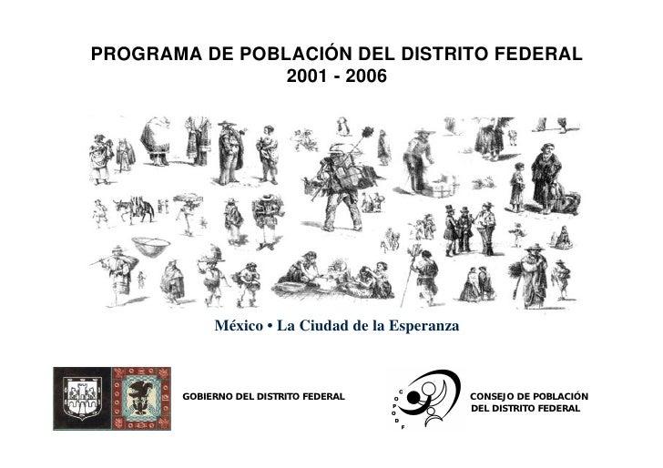 Programa Poblacion Df 2001 2006