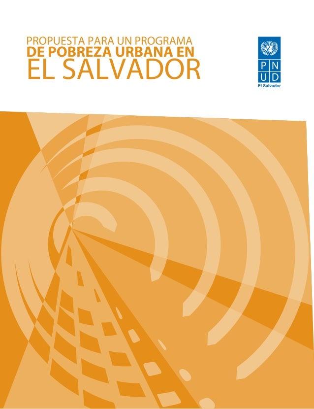 Programa pobreza urbana El Salvador