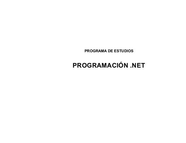 Programa programacion net final